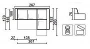 Угловой диван Модерн с баром - 13