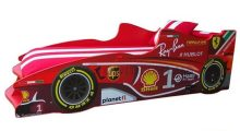 Кровать-машинка Формула F1 (красная)