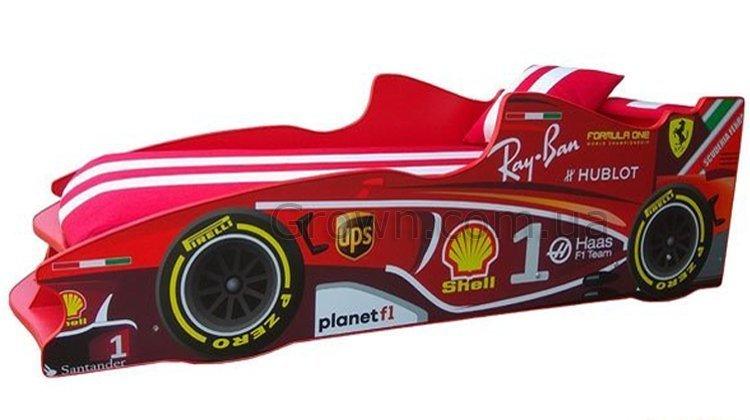 Кровать-машинка Формула F1 (красная) - 1