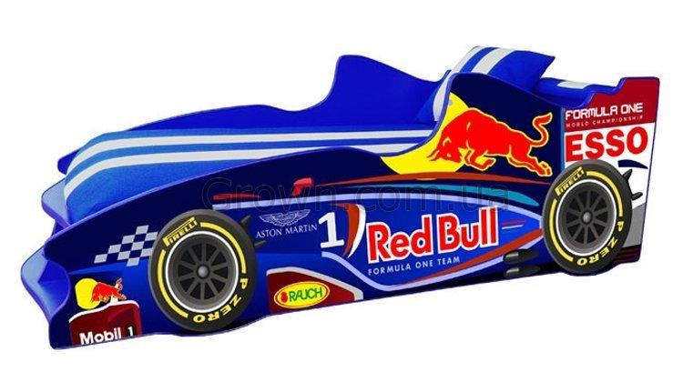Кровать-машинка Формула F2 (синяя) - 1