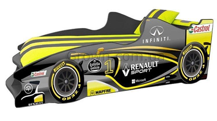 Кровать-машинка Формула F3 (жёлтая) - 1