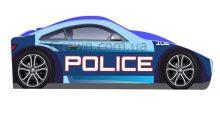 Кровать-машинка Полиция серия Бренд