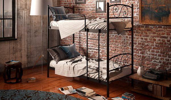 Кровать металлическая двухъярусная Виола - 1