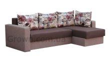 Угловой диван Вегас BROWN (мягкие боковины) - Мебель со склада