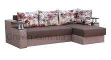 Угловой диван Вегас BROWN (Полка) - Мебель со склада
