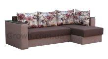 Угловой диван Вегас 2 BROWN (ящики боковые) - Мебель со склада