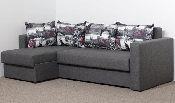 Угловой диван Вегас Макс 6 + Амстердам Графит - 1