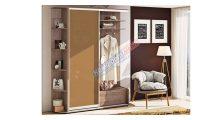 Прихожая-купе «ДСП» Цветное стекло - Мебель для прихожей