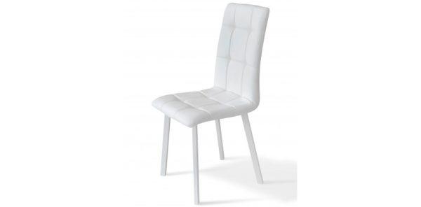 каркас белый + сидушка белая -Кожзам FLY2300