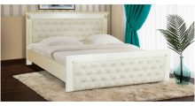 Кровать Ривьера Слоновая кость + Патина золото - Кровати деревянные