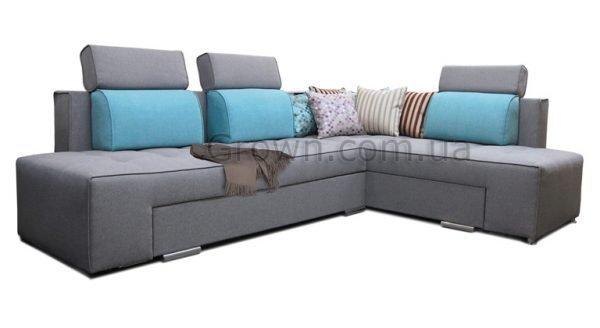 Угловой диван Бридж с подголовниками - 1