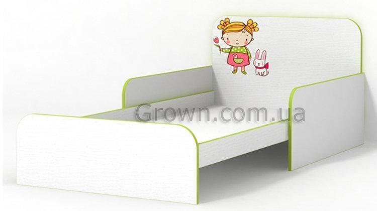 Кровать Яблочко с бортиками - 1