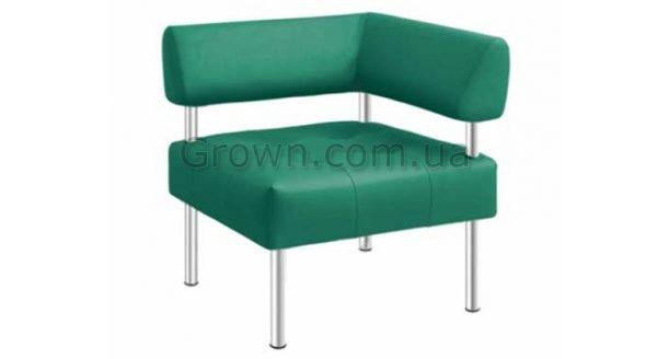 Кресло угловое Офис со спинкой и подлокотником - 1