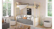 кровать-чердак металлическая Эдельвейс - Детская мебель