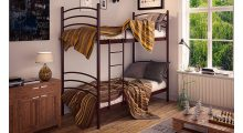 Кровать металлическая двухъярусная Маранта - Детская мебель