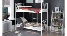 Кровать металлическая двухъярусная Жасмин - Детская мебель